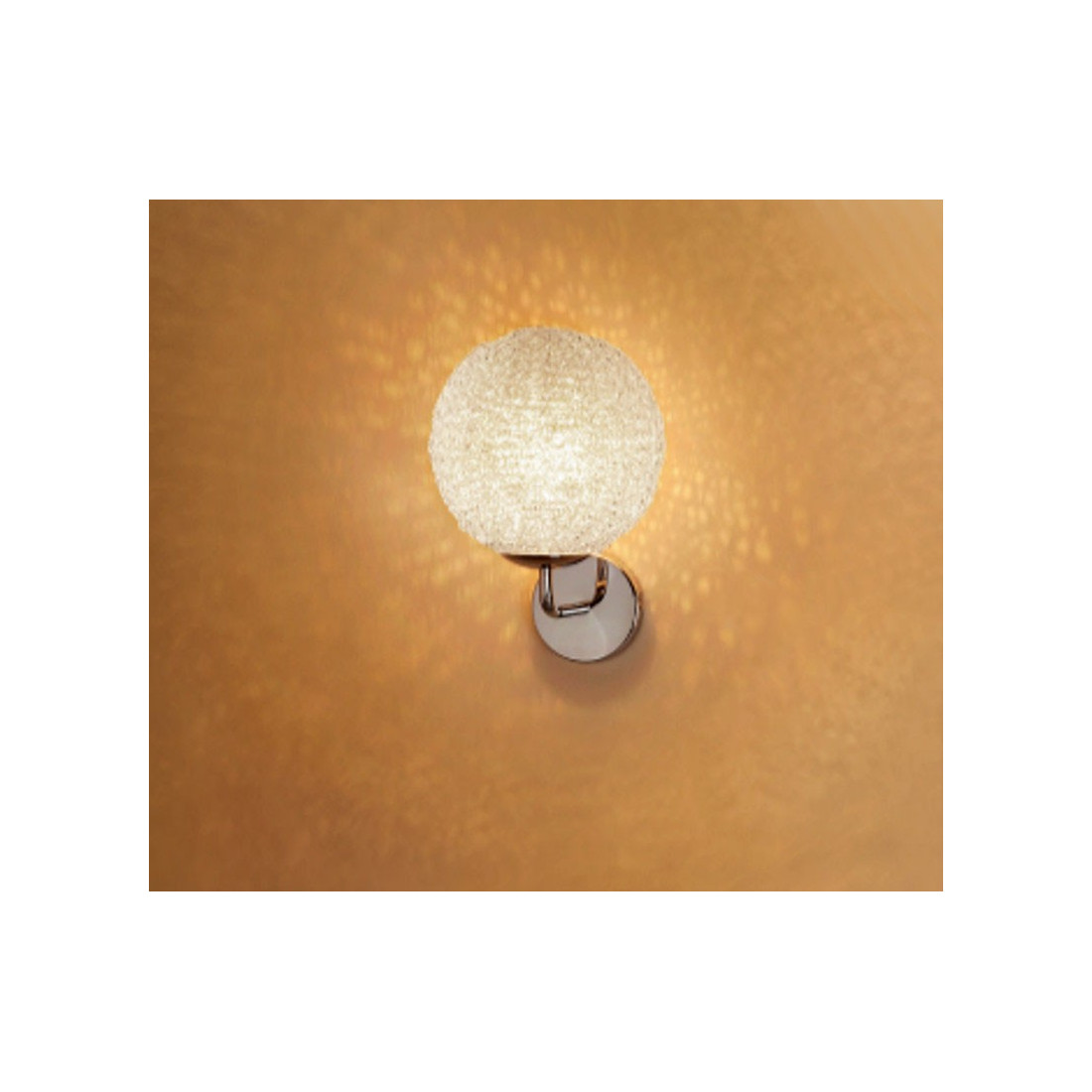 Applique pl blub pl15020 20cm sfera lampada parete for Applique da interno