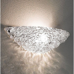 Applique moderna vetro Linea Light Group ARTIC W2 4662 LED lampada parete vaschetta intrecciata interno E27