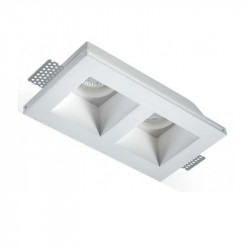 Faretto incasso LED gesso PAN International PRIAMO INC1503 GU10 spot verniciabile controsoffitto IP20
