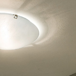Plafoniera classica Linea Light Group DELTA LED lampada soffitto vetro bianco ambra tonda interni E27 40CM IP20