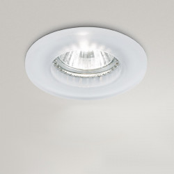 Faretto incasso GE GLASS GFA070 LED GU10 vetro satinato cartongesso controsoffitto tondo IP20