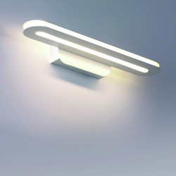 CO-TRATTO 754 30A 34CM 15W LED 2000 LM IP20 applique murale Bi-émission applique murale moderne avec miroir carré