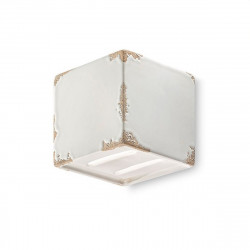 Applique FE-VAGUE VINTAGE RETRO C1419 G9 LED cubo ceramica decorata artigianale lampada parete interno