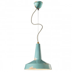 Lampadario FE-VAGUE VINTAGE RETRO C1417 E27 LED ceramica decorata artigianale sospensione classica rustica interno