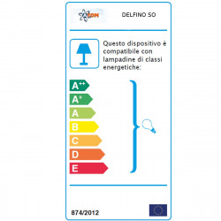 Sospensione AO-DELFINO SO 1010 E27 LED cristallo polimero lampadario moderna interno IP20