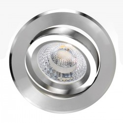 Faretto incasso PN-TURN GU10 LED IP20 tondo spot faretto orientabile alluminio interno