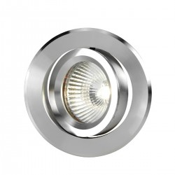 Faretto incasso LED moderno PAN International TURN INC0005 INC00025 GU10 LED spot tondo orientabile alluminio bianco interno