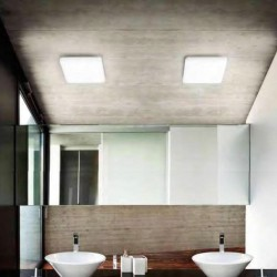 Plafoniera materiale sintetico Gea Led GPL222 N LED lampada soffitto dimmerabile interni esterni 28x28CM 18W 1550LM IP44