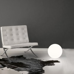 Abat-jour moderna Linea Light Group OH FLOOR 10100 LED lampada tavolo terra sfera polietilene interni 28CM E27 IP20