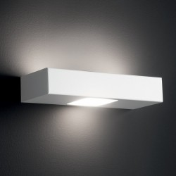 Applique Illuminando UP-DOWN 2+1 GX53 LED metallo biemissione lampada parete moderna interno