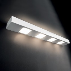 Applique Illuminando UP-DOWN 5+4 GX53 LED metallo biemissione lampada parete moderna multiluce interno