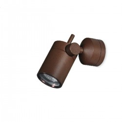 Applique classico Linea Light Group VISION WJ 51366 LED faretto orientabile alluminio corten esterni GU10 IP65