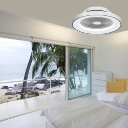 Ventilatore moderno Mantra TIBET 7125 70W LED 3000LM led bianco dinamico lampada soffitto interno IP20