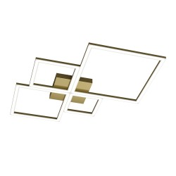 Plafoniera Top Light FOUR SQUARES 1162 88W LED 6400LM lampada soffitto moderna classica interno