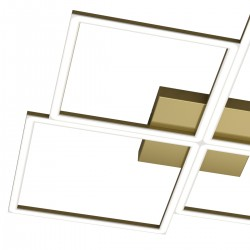 Plafoniera Top Light FOUR SQUARES 1162 119W LED 8600LM lampada soffitto moderna classica interno