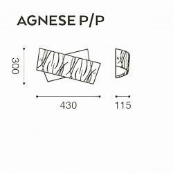 Gea Luce AGNESE PP LED Siebdruckglas