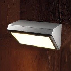 Applique moderno PAN International GRENADA EST145 E27 LED alluminio lampada parete