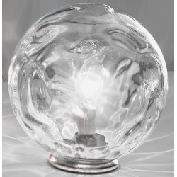 Abat-jour DP-GLOBO 2586 E27 53W lampe de table halogène led verre transparent interne