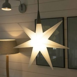 Lampadario stella 8 Seasons SHINING GLORY STAR 70 32049L LED IP44 polietilene
